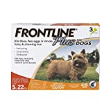 Waterproof flea and tick treatment for dogs: Frontline Plus for Dogs provides waterproof, fast-acting, long-lasting flea and tick treatment and control for your dog. This product is approved for use on dogs 5-22 lbs. Break the flea life cycle with fr...