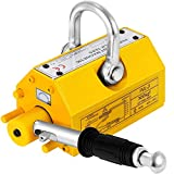 Happybuy Steel Magnetic Lifter 660 LB Metal Lifting Magnet 300 KG Neodymium Magnetic Lift Hoist Shop Crane(300KG)
