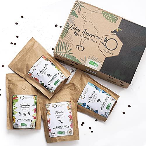 ORIGEENS BIO Kaffeebohnen Probierset 1kg | Premium Arabica Kaffee Ganze Bohnen Set 4x250g |...