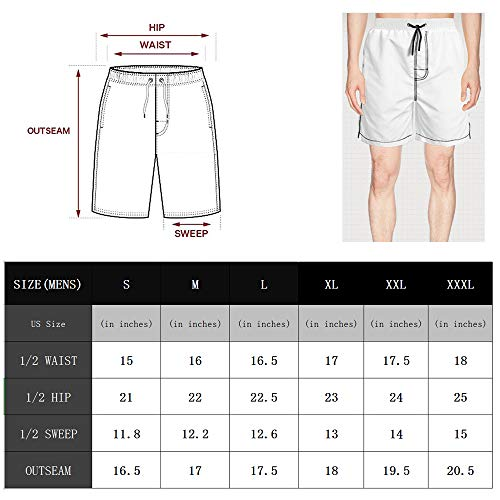FUEWJFDIW Mens Waterproof Swim Trunks Quick Dry Board Shorts Beach Wear with Pockets