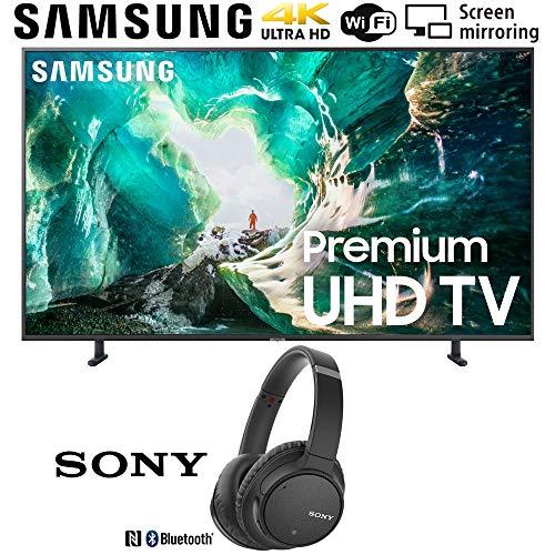 Samsung UN65RU8000 65-inch RU8000 LED Smart 4K UHD TV (2019) Bundle with Sony WH-CH700N Wireless Noise Canceling Bluetooth Headphones, Black