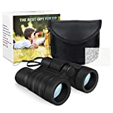 Tesoky Cool Toys for Boys Girls Age 3-10, Kids Binoculars Outdoor Adventure Toys Binoculars Stocking Stuffers for Boys Girls Age 3-10 Christmas Xmas Present Gifts Toys Age 3-10 for Kids Boys Black