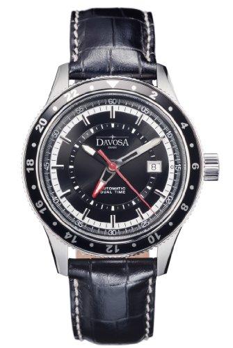 Davosa Herren Analog Automatik Uhr mit Leder Armband 16150155