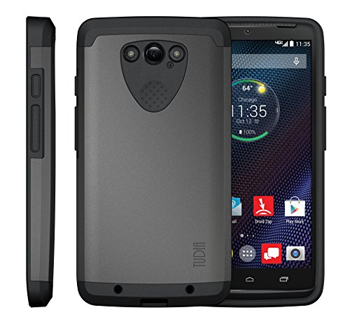 Motorola Droid Turbo Case, TUDIA [Merge Series] Heavy Duty Extreme Protection/Rugged with Dual Layer [Shock Absorption] Phone Case for Motorola Droid Turbo (Metallic Slate)