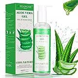 Gel de Aloe Vera, 100% Orgánico Aloe Vera Gel de Crema Hidratante con Ácido Hialurónico y...
