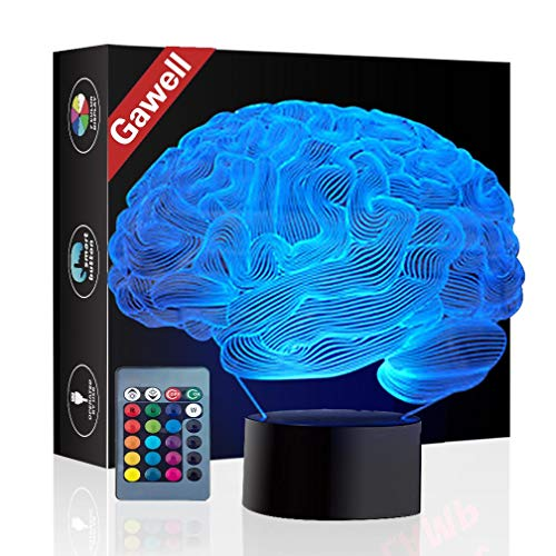 Christmas Gift Brain 3D Illusion Decoration Lamp, Gawell 7...