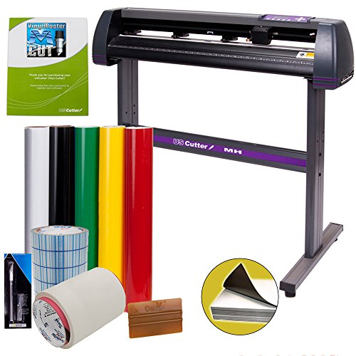 Vinyl Cutter USCutter MH 34in Bundle - Sign Making Kit w/Design & Cut...