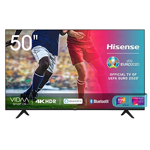 Hisense 50AE7000F, Smart TV LED Ultra HD 4K 50', HDR 10+, Dolby DTS, Alexa integrata, Tuner...