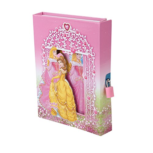 Asera Princess Cindrella Lock Diary for Girls Gifts Options (Small Size 16.5*13*3 cm)