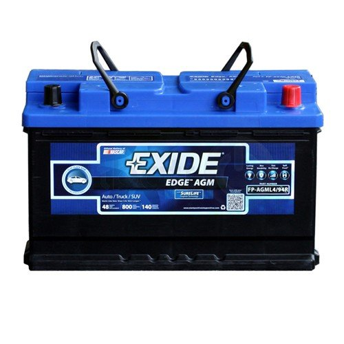 Exide Edge FP-AGML4 Flat Plate Battery