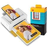 Kodak Dock Plus 4 x 6' Stampante Fotografica + 80 fogli, Stampa foto formato 10x15cm, Connessione smartphone wireless via Bluetooth