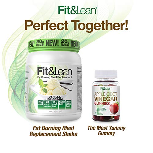 Fit & Lean Fat Burning Meal Replacement, Vanilla, 0.97 lb 3