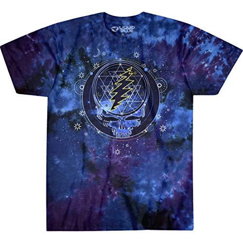 Liquid Blue Unisex's Grateful Dead Mystical Stealie Celestial Tie Dye SS Tee T-Shirt, S (Apparel)