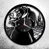 wtnhz Reloj de Pared con Disco de Vinilo LED with LED-Reloj de Pared con Disco de Vinilo Movimiento de Cuarzo Pared de Estilo clásico Hecho a Mano en Vinilo