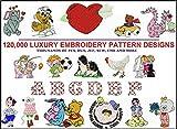 120,000 Machine Embroidery Designs PES Designs Patterns JEF PES Sew HUS EDR