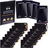 18 RFID Blocking Sleeves (14 Credit Card Holders & 4 Passport Protectors) Ultimate Premium Identity...