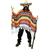 Forum Novelties Men's Adult Mexican Serape Costume, Rainbow, One Size