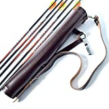 Universe Archery Back Arrow Quiver | Genuine Suede Leather Arrow Holder | Traditional Handmade Quiver for Hunting & Archery Sports | Lightweight & Comfortable (43 X 8 cm) (Dark Brown)