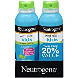 Neutrogena Wet Skin Kids Sunscreen Spray, Water-Resistant and Oil-Free, Broad Spectrum SPF 70+, 5 oz...