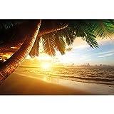 GREAT ART Papier Peint – Coucher de Soleil sur la mer – Décoration...