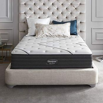 Beautyrest Black 14 Inch Queen L-Class Extra Firm Premium Pocketed Coil Mattress with Cooling Technology, with 9 Inch Box Spring