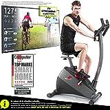 Sportstech Vélo d'Appartement ergomètre ESX500, Vidéos Live et...
