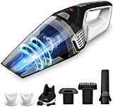 Homasy Portable Handheld Vacuum Cleaner Cordless, Powerful Cyclonic Suction Cleaner, Rechargeable 14.8V Lithium with Quick Charge, Wet Dry Vacuum Cleaner for Pet Hair, Dust, Gravel Cleaning