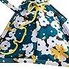 ZAFUL Women's Back Lace-up Swimsuit Flower Print Cheeky Thong Bikini (S, Yellow-Ruffle) #2