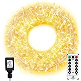 Ollny Outdoor Christmas String Lights 800 LED 330FT with Remote, Waterproof Warm White Plug in Fairy Light, 8 Modes Timer Twinkle Lighting for Bedroom Indoor Xmas Tree Holiday Wedding Party Decoration