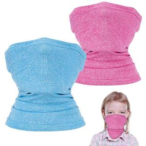 2 Pack Kids Neck Gaiters, Unisex Face Scarf For Kids, Kids Face Cover for Outdoors/Festivals/Sports