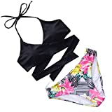 Sexy Panyan NEW Sexy Cross Brazilian Bikinis Women Swimwear Push Up Bikini Set Halter Bathing Suits Color 4 S