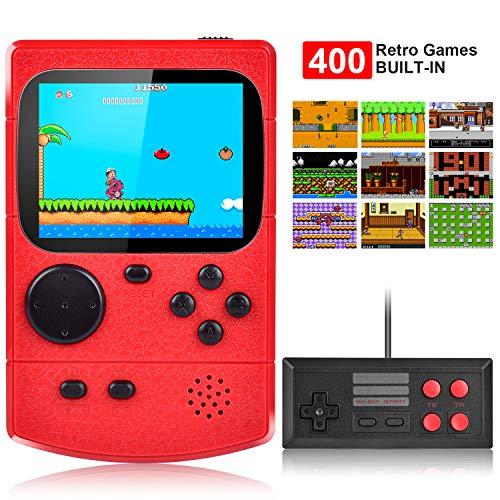 Kiztoys Console de jeu portable,Console de Jeu Retro FC,avec 400 jeux FC...