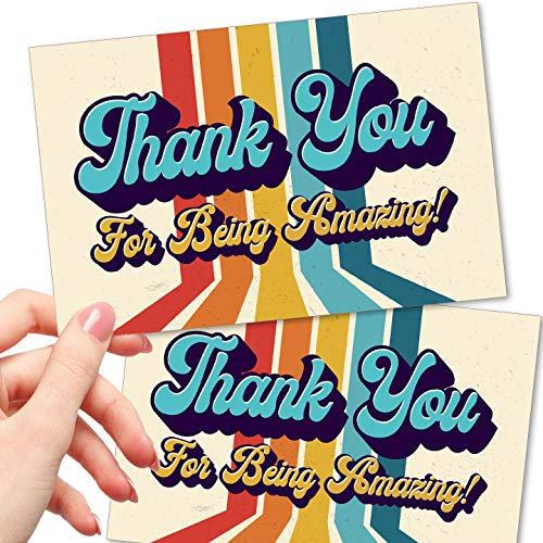 50 Thank You For Being Amazing Postcards - Kudos...