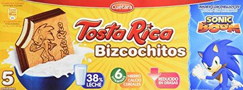 Tosta Rica - Galletas Bizcochitos - 5 Galletas - 125 g - [Pack de 9]