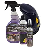 Marblelife Granite Countertop Cleaning Kit with Buffer (GQC-41110) (GGC-41130) (GS-41140) (BUF-53285)
