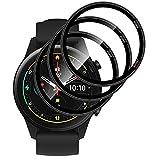 【3枚】QULLOO for Xiaomi Mi Watch フィルム 3D全面保護 弧状のエッジ加工 薄型 傷修復性 保護フィルム 高透過率 反射防止 PET複合材 指紋気泡防止 高感度タッチ Mi Watch 保護フィルム