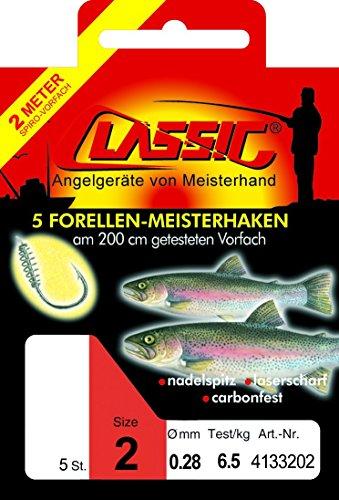 Paladin Sbirulino - Amo per trote, 200 cm, con spirale per la pasta, per pesca alla trota, 8