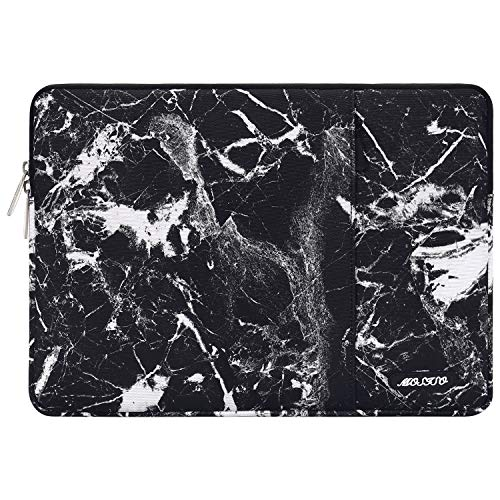 MOSISO Laptop Sleeve Compatible with 2019 MacBook Pro 16 inch with Touch Bar A2141, 15-15.4 inch MacBook Pro Retina 2012-2015, Notebook, Polyester Disorderly Texture Marble Bag with Pocket