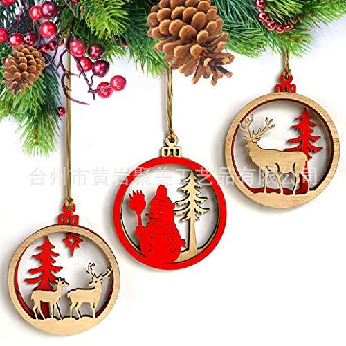 ysister 3 Piezas Etiquetas navideñas de Madera, decoración navideña Artesanía de Madera Creativa Colgantes navideños Adornos Artesanía de Madera Creativa Colgantes navideños La decoración navideña