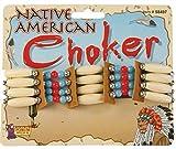 Forum Novelties Beaded Native American Choker - Standard -  Brown