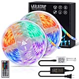 LED Strip Lights,LAMJAD 32.8ft Flexible Color Changing 5050 RGB 300 Led Light Strips Kit with 44keys Remote Controller for Decoration Bedroom,TV,Kitchen,Party,Xmas