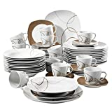 VEWEET Nikita 60pcs Service de Table Porcelaine 12pcs Assiette...