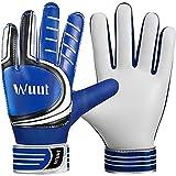 Wuut Kids Soccer Goalie Gloves - Shockproof Non-Slip Latex Goalkeeper Gloves for Kids Children 5-16 Years Old - Soft PU Hand Blue 4