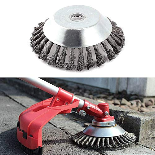 Professionale erbaccia Spazzola in acciaio HSS Spazzola per decespugliatore gezopft (Duro), foro 25,4 mm, diametro 200 mm.