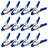 Lot of 12 - 6' inch Spring Clamp Large Super Heavy Duty Spring Metal Blue - 2.5 inch Jaw opening