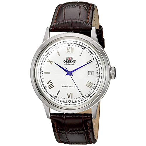 Orient Unisex Erwachsene Analog Automatik Uhr mit Leder Armband FAC00009W0