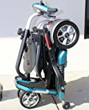 EV Rider Transport Plus - Manual Folding Scooter Power Mobility (SeaFoam Blue)