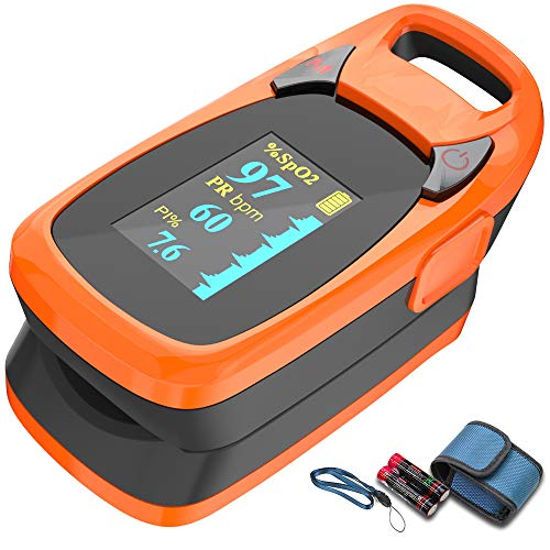 Fingertip Pulse Oximeter with Plethysmograph and Perfusion Index