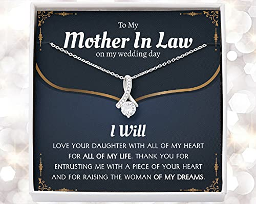 Mother Necklace Gift Mother In Law Gift on Wedding Day,...
