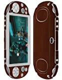 Skinomi Dark Wood Full Body Skin Compatible with Sony PS Vita (PCH-2000)(Full Coverage) TechSkin with Anti-Bubble Clear Film Screen Protector